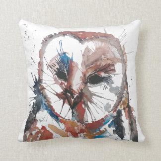 Barn Owl Abstract Throw Pillow