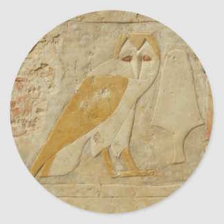 Barn OWL Ancient Egyptian Classic Round Sticker