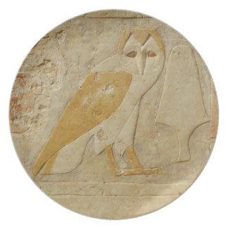 Barn OWL Ancient Egyptian Dinner Plate
