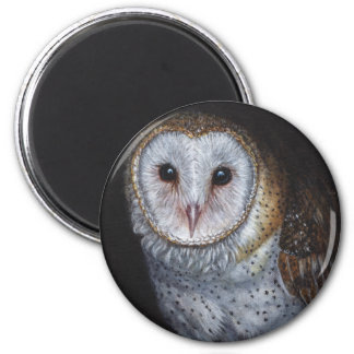 Barn Owl Bird Original Painting Art Magnet