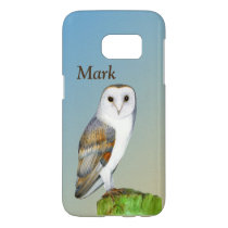 Barn Owl Bird Watercolor Painting Wildlife Artwork Samsung Galaxy S7 Case