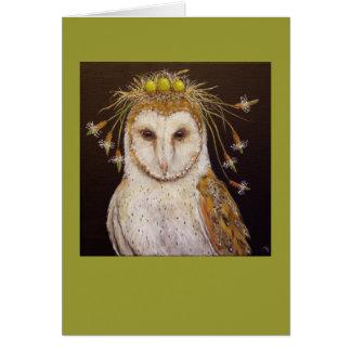 Barn Owl Bride card