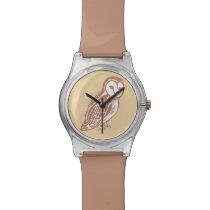 Barn Owl Brown and Oak Wristwatch
