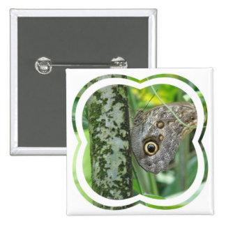 Barn Owl Butterfly Button