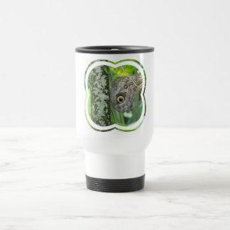 Barn Owl Butterfly Travel Mug