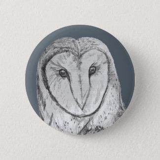 Barn Owl Button