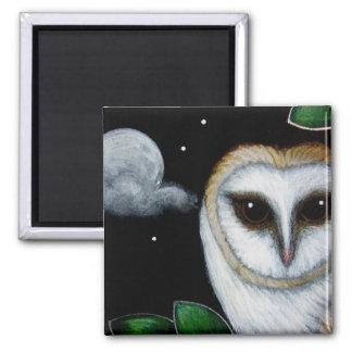 BARN OWL CLODY MOON Magnet