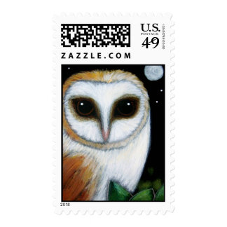 BARN OWL CLOSE UP Postage