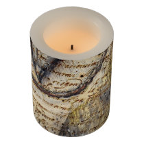 Barn Owl Collage Flameless Candle