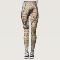 Barn Owl Collage Leggings