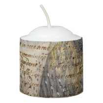 Barn Owl Collage Votive Candle