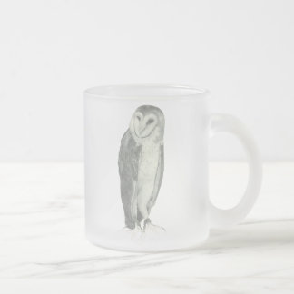 Barn Owl | Customizable Frosted Glass Coffee Mug