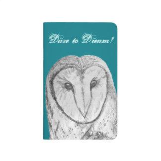 "Barn Owl ""Dare to Dream"" pocket journal"