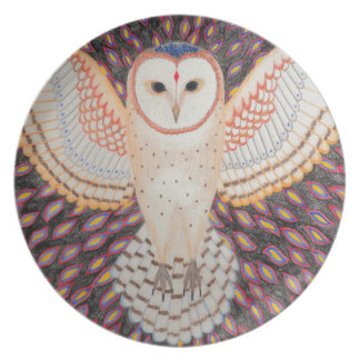 Barn owl dinner plate