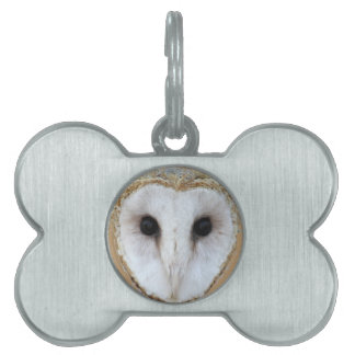 Barn Owl Face Gifts by Sharles Pet ID Tags