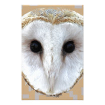 Barn Owl Face Gifts by Sharles Stationery