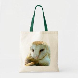 Barn Owl Face Portrait Tote Bag