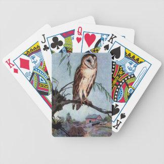 Barn Owl, Farmhouse and Barn Bicycle Card Deck