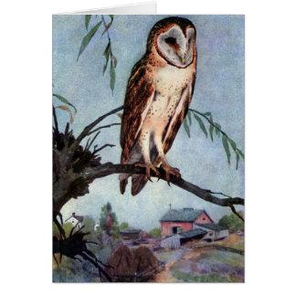 Barn Owl, Farmhouse and Barn Card