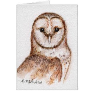 """Barn Owl"" Greeting Cards"