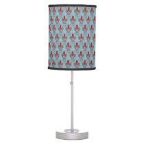 Barn Owl Hearts Pattern Table Lamp