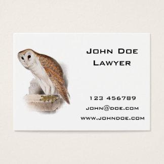 Barn Owl Illustration Business Card