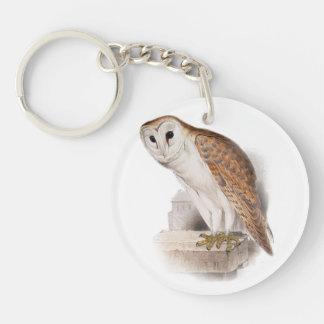 Barn Owl Illustration Keychain