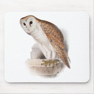Barn Owl Illustration Mouse Pad