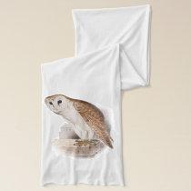 Barn Owl Illustration Scarf