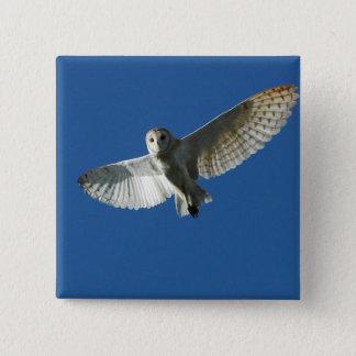 Barn Owl in Daytime Flight Pinback Button