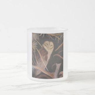 barn owl in pastel animal painting mugs