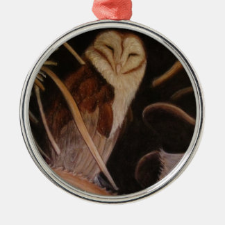 barn owl in pastel animal painting christmas tree ornaments