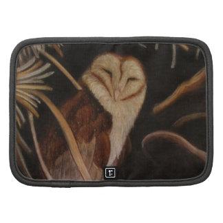 barn owl in pastel animal painting folio planners