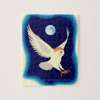 """Barn Owl in Swoop"" Puzzle"