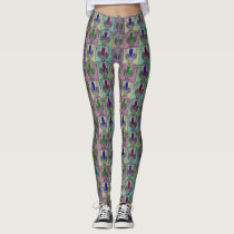 Barn Owl Love Pop Pattern Leggings