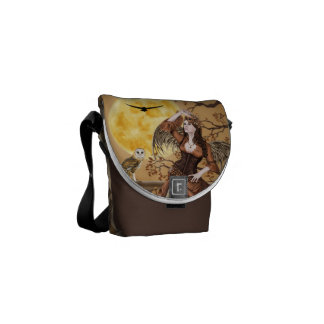 Barn Owl Masquerade Fairy Angel - Messenger Bag