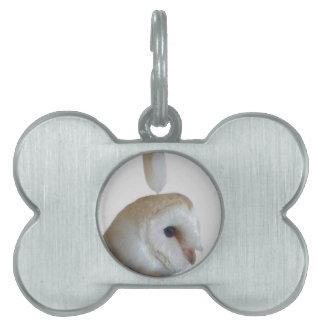 Barn Owl Pattern Pet ID Tag