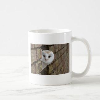 Barn Owl Peeks Out Coffee Mug