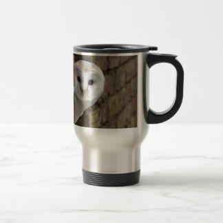Barn Owl Peeks Out Travel Mug