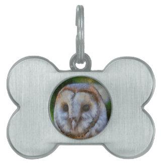 Barn Owl Pet Name Tag