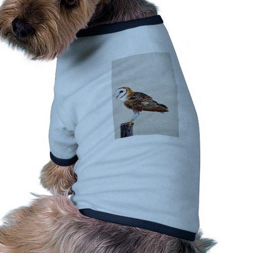 Barn owl pet tshirt