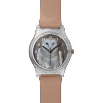 Barn Owl Photo Wristwatch