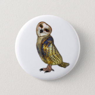Barn Owl Pinback Button