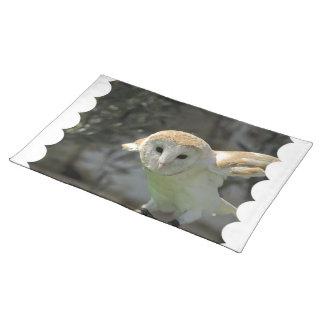 Barn Owl Placemat Cloth Place Mat