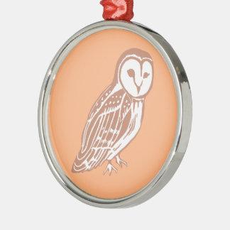 Barn Owl Premium Round Ornament