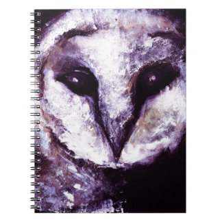 Barn Owl Print Night Owl Black Purple Dark Gothic Journal