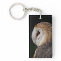 Barn Owl profile photo keychain
