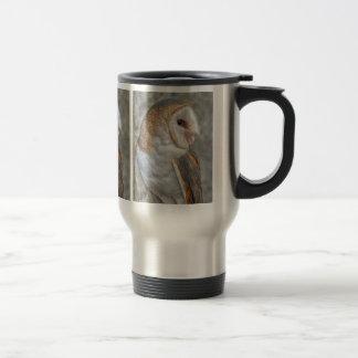 Barn Owl Profile Travel Mug