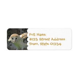 Barn Owl Return Address Label