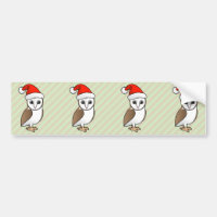 Barn Owl Santa Bumper Sticker